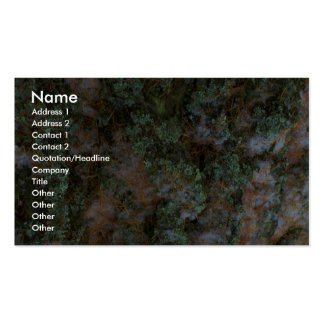 Tree bark business card