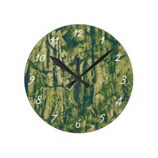 Tree bark camouflage pattern clocks