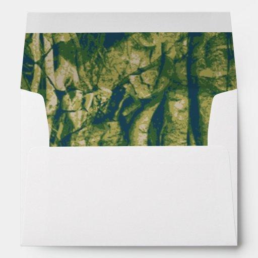 Tree bark camouflage pattern envelopes