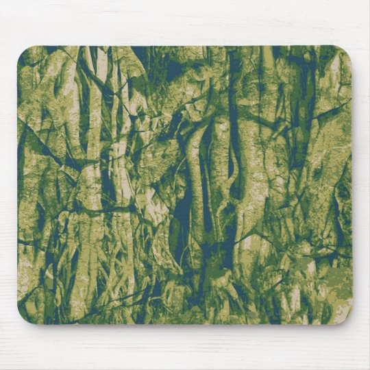 Tree bark camouflage pattern mouse pad