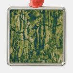 Tree bark camouflage pattern ornament