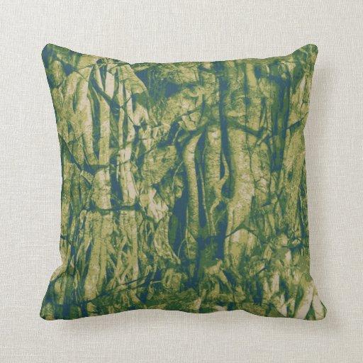 Tree bark camouflage pattern pillow