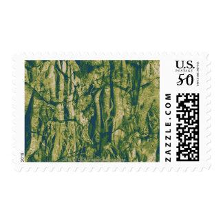 Tree bark camouflage pattern postage