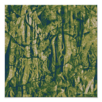 Tree bark camouflage pattern poster