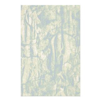 Tree bark camouflage pattern stationery