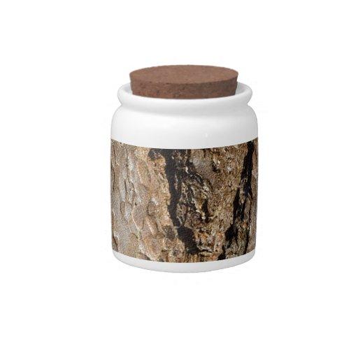 TREE BARK CANDY JARS