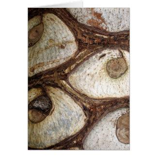 Tree bark card