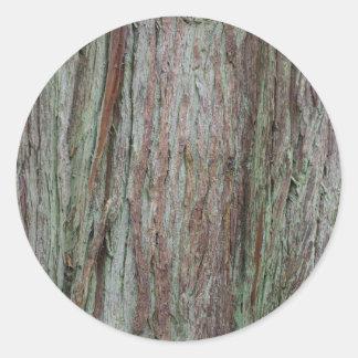 Tree Bark Classic Round Sticker