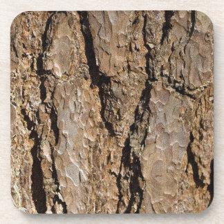 TREE BARK BEVERAGE COASTERS