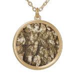 Tree Bark Design Necklace