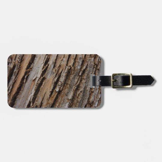Tree Bark I Natural Abstract Textured Design Luggage Tag