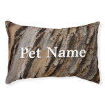 Tree Bark I Natural Abstract Textured Design Pet Bed