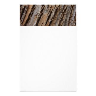 Tree Bark I Natural Abstract Textured Design Stationery