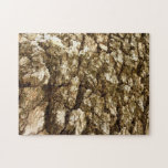 Tree Bark II Natural Abstract Textured Design Jigsaw Puzzle
