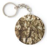 Tree Bark II Natural Abstract Textured Design Keychain