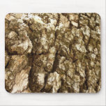 Tree Bark II Natural Abstract Textured Design Mouse Pad