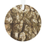 Tree Bark II Natural Abstract Textured Design Ornament