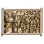 Tree Bark II Natural Abstract Textured Design Serving Tray