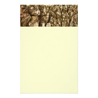 Tree Bark II Natural Abstract Textured Design Stationery