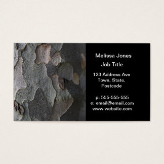 Tree Bark macro photography Business Card