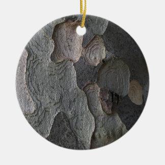 Tree Bark macro photography Ceramic Ornament
