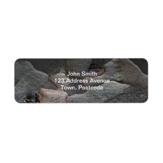 Tree Bark macro photography Label