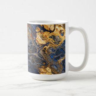 Tree Bark Marbled Abstract Coffee Mug