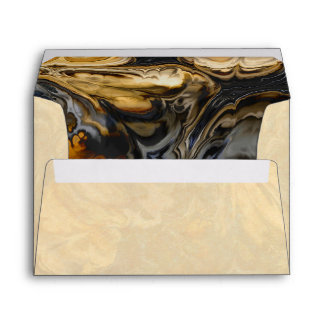 Tree Bark Marbled Abstract Envelope