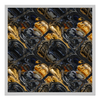Tree Bark Marbled Abstract Poster