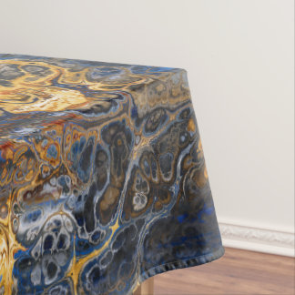 Tree Bark Marbled Abstract Tablecloth