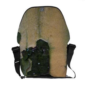 Tree bark messenger bag
