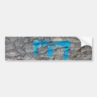 Tree Bark, Monogram E, Blue Brown, Nature Bumper Sticker