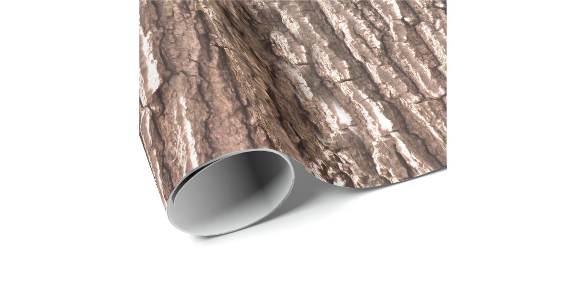 Tree Bark Nature Pattern Wrapping Paper Zazzle