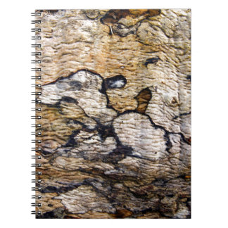 Tree bark pattern notebook