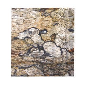 Tree bark pattern memo pad