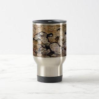 Tree bark pattern travel mug