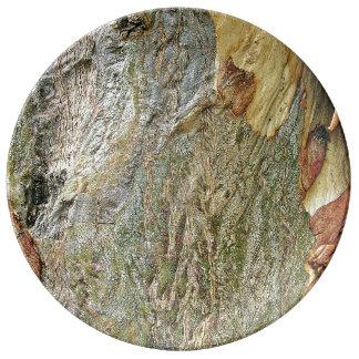 Tree Bark Plate