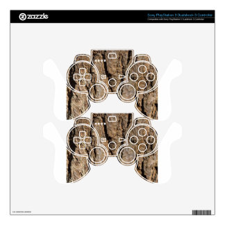 TREE BARK PS3 CONTROLLER DECAL