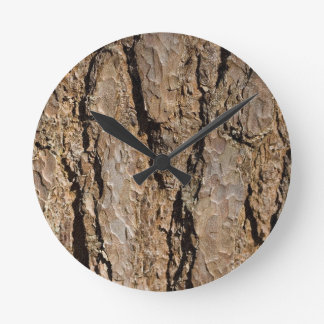 TREE BARK ROUND CLOCK