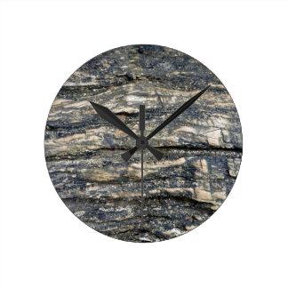 tree bark round clocks