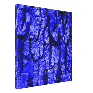 tree bark structure,blue gallery wrapped canvas