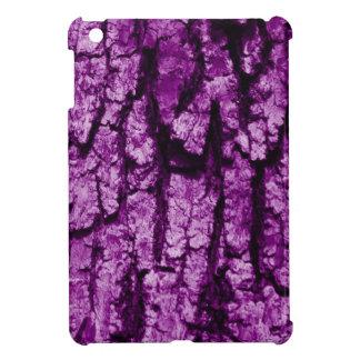 Tree bark structure, purple iPad mini covers