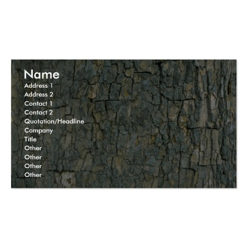 Tree bark texture business card templates