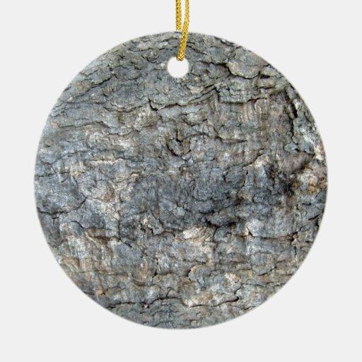 Tree Bark Texture Christmas Tree Ornaments