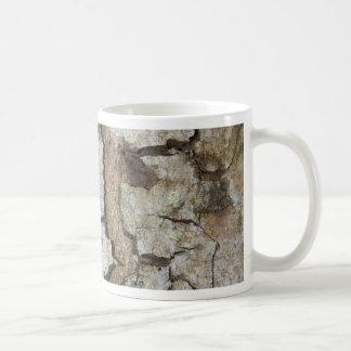 Tree bark texture coffee mug