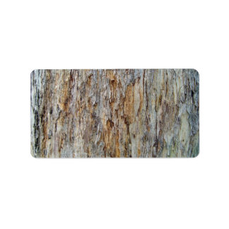 Tree Bark Texture Detail Label