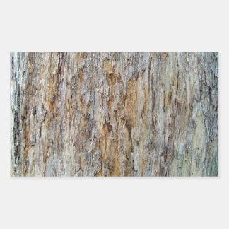 Tree Bark Texture Detail Rectangular Sticker