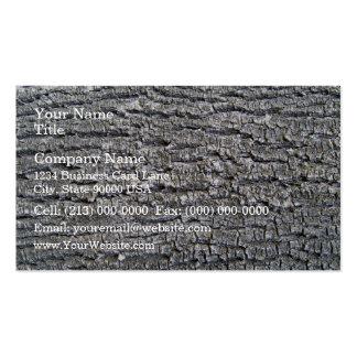 Tree Bark Texture Horizontal Business Card