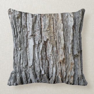 tree bark texture nature pattern background plant throw pillow