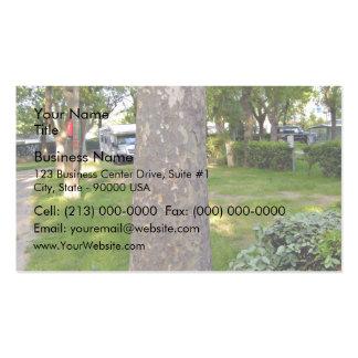 Tree Bark Texture Vertical Business Card